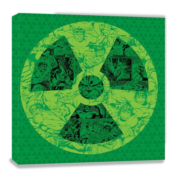Marvel Comics: Der unglaubliche Hulk (Collage), Leinwanddruck