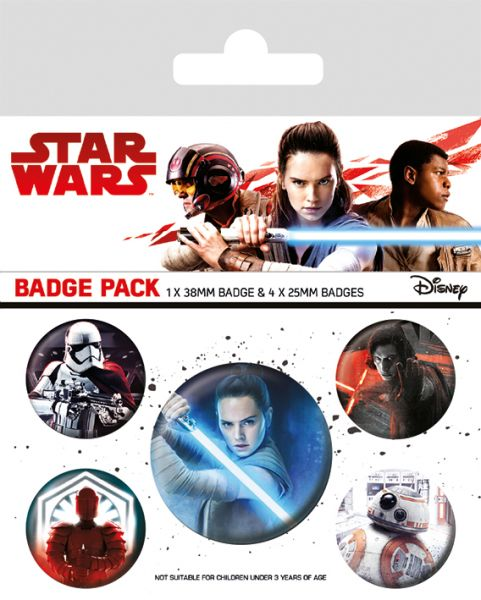 Star Wars: The Last Jedi (Charaktere), Button-Set 5-teilig