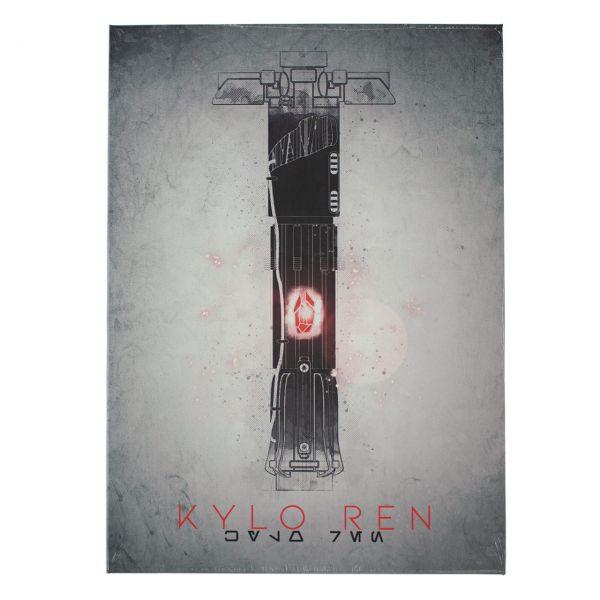 Kylo Ren Lichtschwert Metall Poster Star Wars