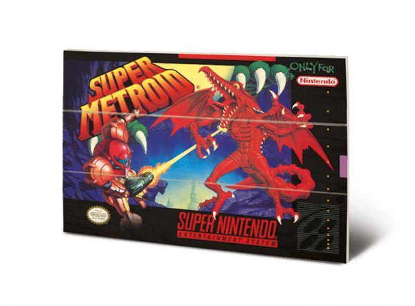Super Metroid Holzbild Nintendo