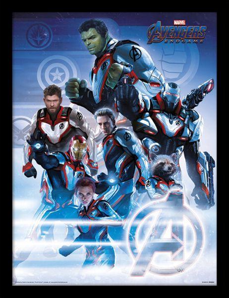 Avengers Endgame (Quantum Realm Suits) Gerahmtes Poster
