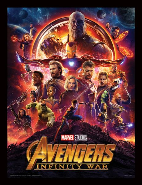 One Sheet Avengers Infinity War gerahmtes Bild Marvel