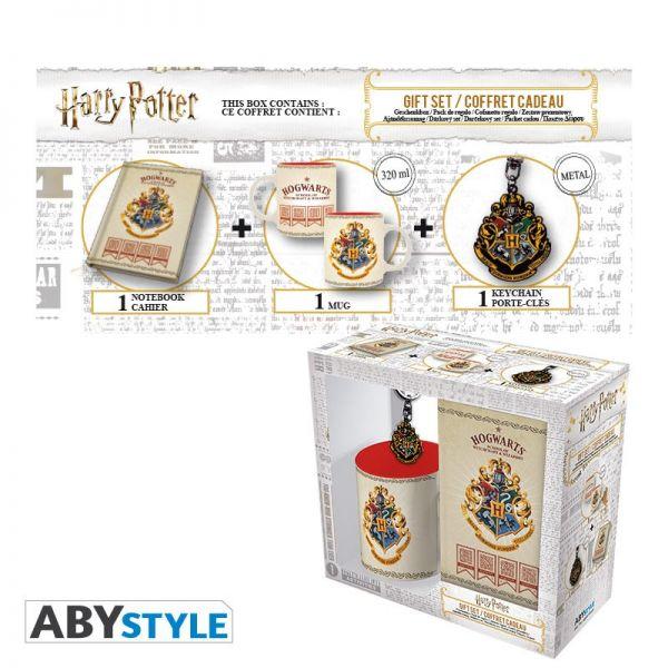 Harry Potter Geschenkbox Hogwarts Tasse Schlüsselanhänger Notizbuch