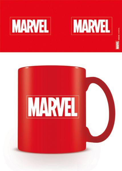 Marvel Logo Tasse rot