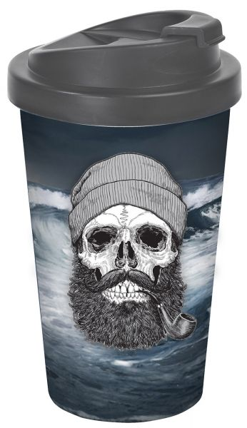 Sailor Skull Totenkopf To-Go-Becher 400ml