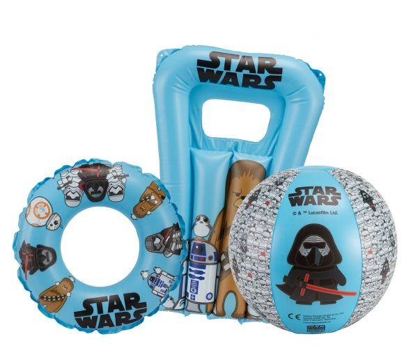 Star Wars Strandset – Wasserball, Schwimmring & Kindermatratze