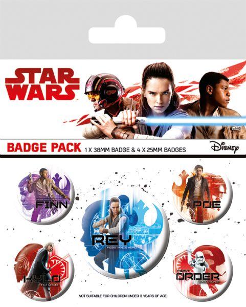 Star Wars: The Last Jedi (Zeichen), Button-Set 5-teilig
