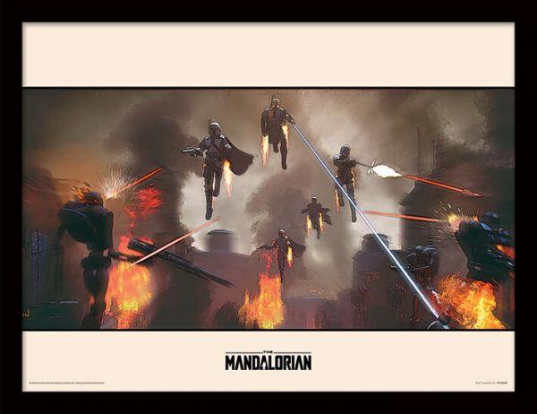 Assemble The Mandalorian gerahmtes Bild Star Wars