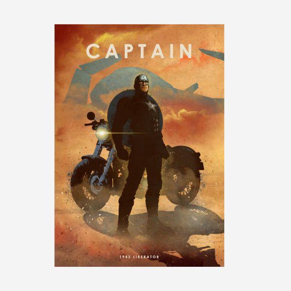 Captain America Liberator Metall Poster Marvel 80-jähriges Jubiläum