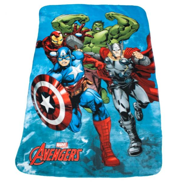 Marvel Avengers Fleece Decke blau