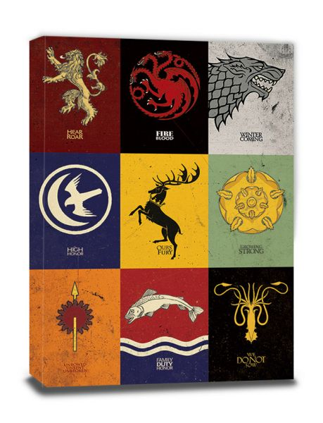 Game Of Thrones (Sigils), Leinwanddruck