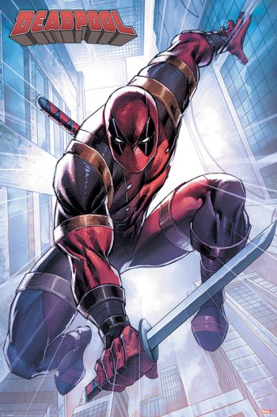 Deadpool Action Pose Maxi Poster Marvel