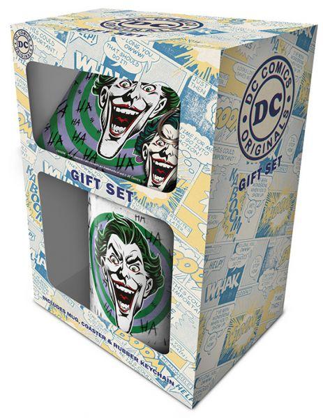 Joker (HaHaHa) Geschenk-Set, 3-teilig, Tasse Untersetzer Schlüsselanhänger