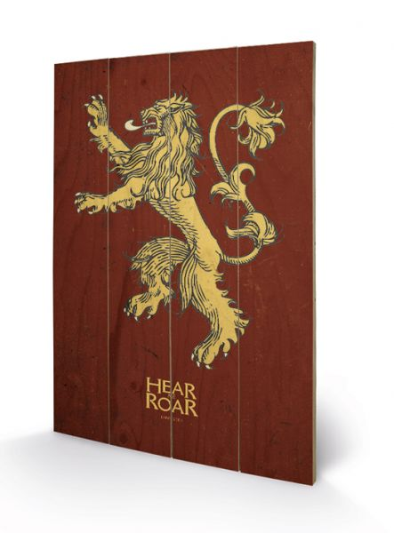 Game Of Thrones (Lannister), Holzdruck