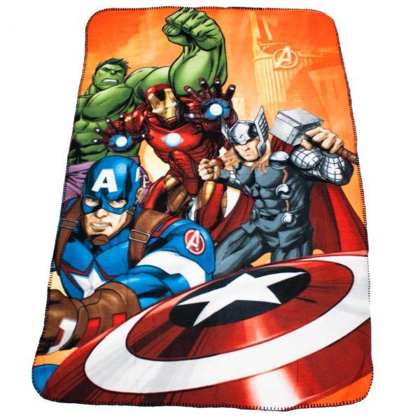 Marvel Avengers Fleece Decke rot