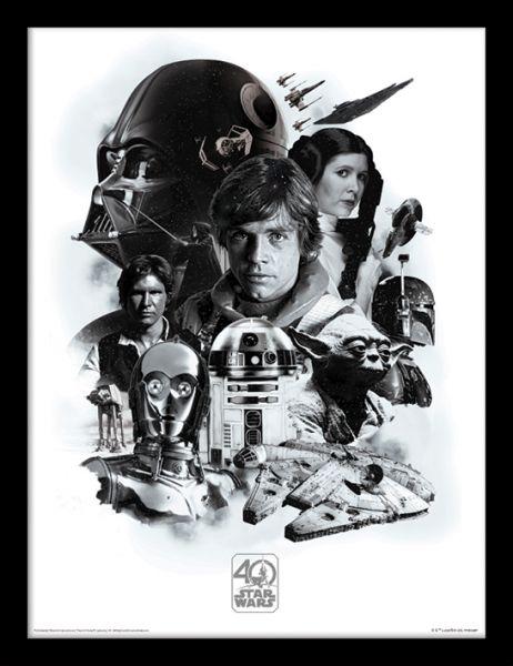 Star Wars: 40th Anniversary (Montage), Gerahmt