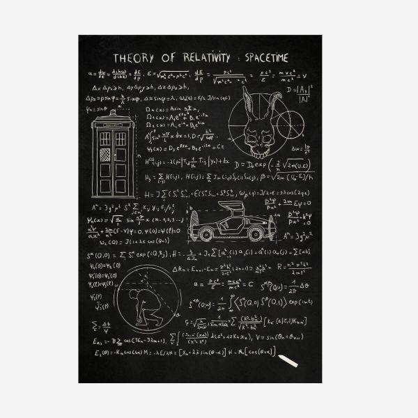 Theory of relativity Metall Poster Zurück in die Zukunft