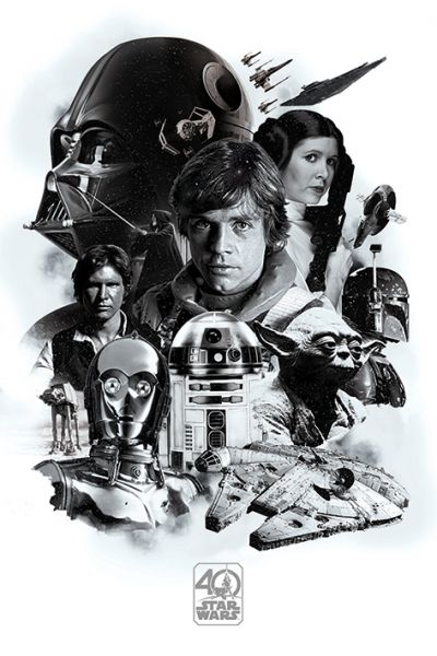 Montage 40th Anniversary Maxi Poster Star Wars