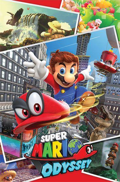 Super Mario: Odyssey (Collage), Maxi Poster