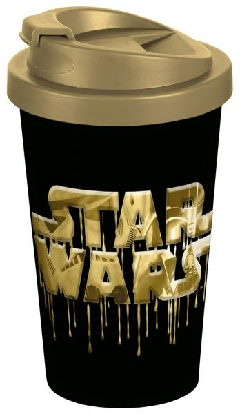 Star Wars Logo gold To-Go-Becher Star Wars