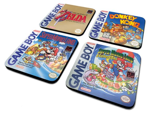 Nintendo Gameboy (Classic Collection) Untersetzer-Set 4 Stück