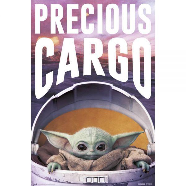 Grogu Precious Cargo Mando Maxi Poster Star Wars