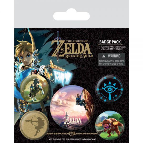 Zelda Breath of the Wild Button-Set 5-teilig Nintendo