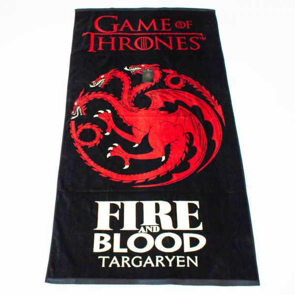 Game of Thrones Targaryen Badetuch aus Baumwolle