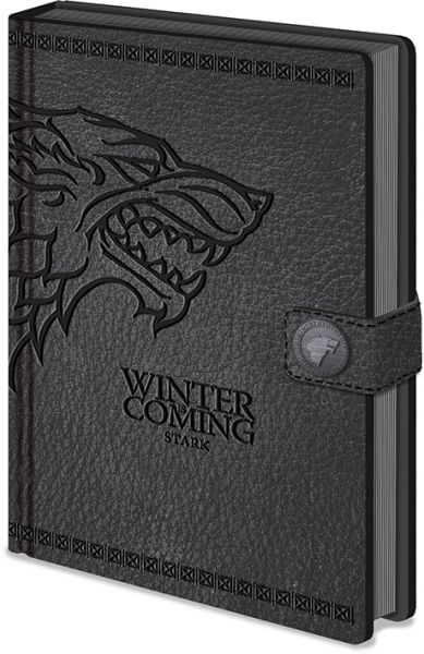Winter is Coming Stark Wappen Premium A5 Notizbuch Game of Thrones