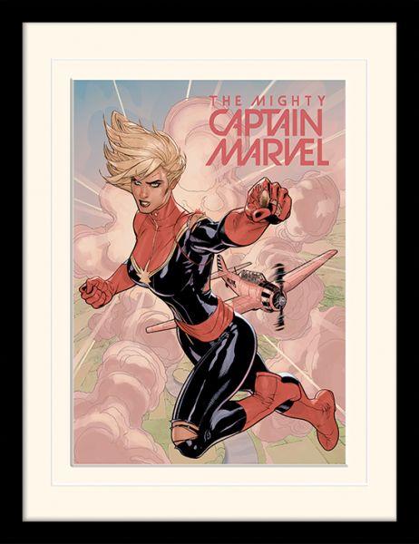 Flight Captain Marvel Passepartout gerahmtes Bild Marvel