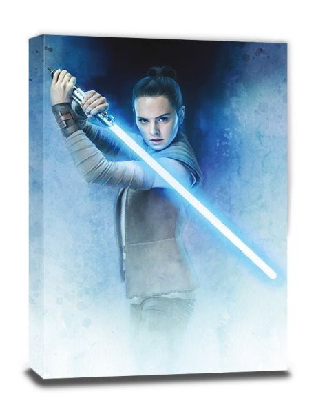 Star Wars: The Last Jedi (Rey Lightsaber Guard), Leinwanddruck