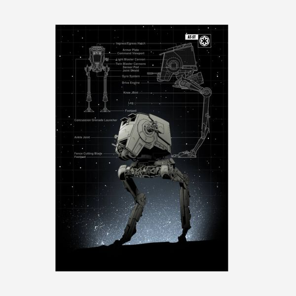 AT-ST Metall Poster Star Wars