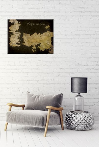 Game of Thrones: Westeros and Essos Antique Map, Leinwanddruck