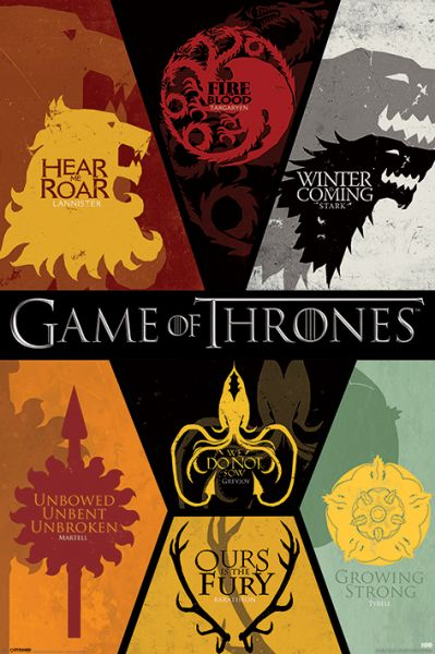Game Of Thrones: Sigils, Maxi Poster