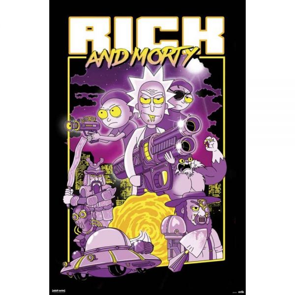 Rick and Morty Charaktere Maxi Poster
