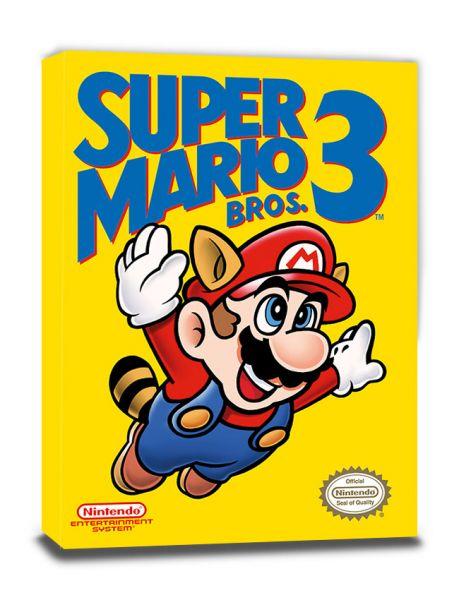 Nes Cover Super Mario Bros 3 Leinwandbild Nintendo