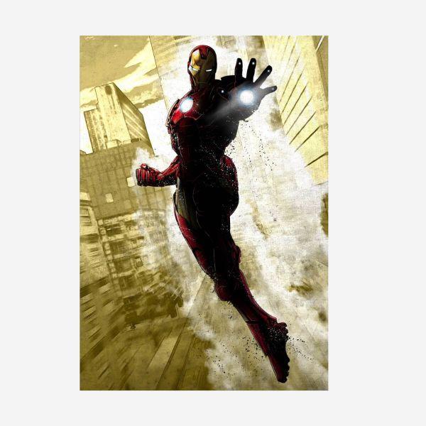 Iron Man Dark Edition Metall Poster Marvel