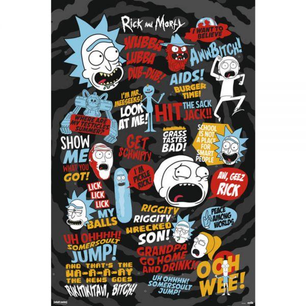 Sprüche Maxi Poster Rick and Morty