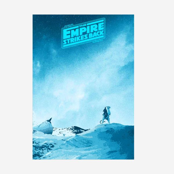 "Star Wars ""The Empire strikes back"" Metallposter"