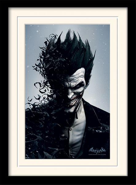 Batman Arkham Joker gerahmtes Bild DC Comics