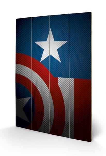 Avengers Assemble: Captain America Torso, Holzdruck