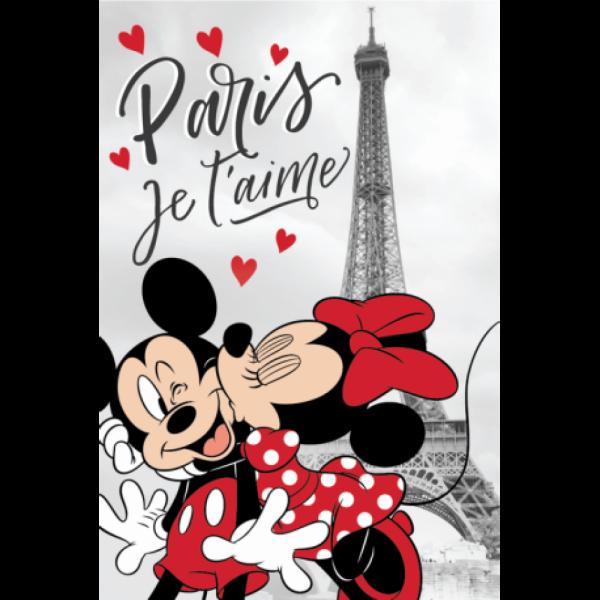 Minnie und Mickey Mouse Paris Fleece Decke Disney