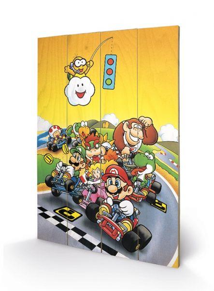 Super Mario Kart (Retro), Holzdruck