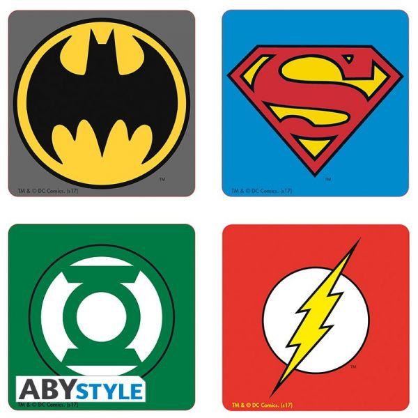 DC Symbole Untersetzer 4er-Set DC Comics