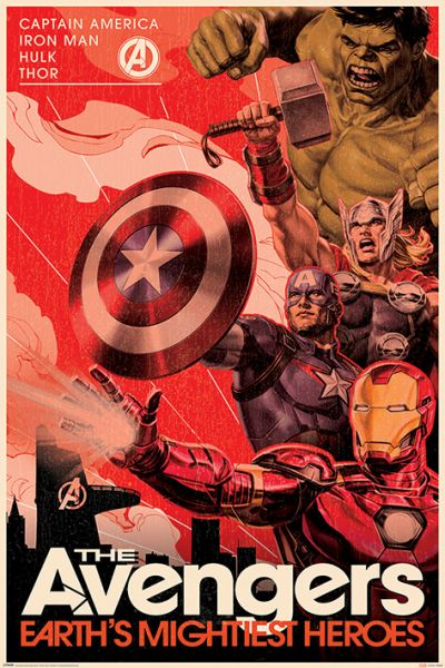 Avengers Golden Age Hero Propaganda Maxi Poster Marvel