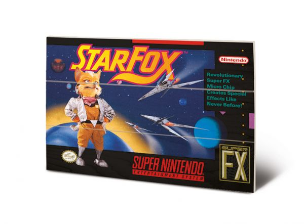 Star Fox Holzbild Nintendo