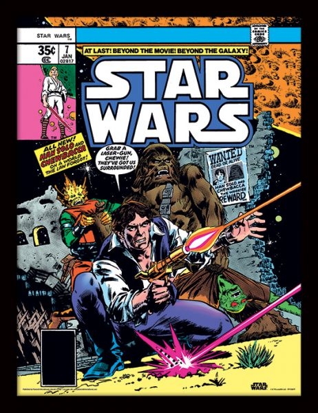 Star Wars (Comics) Gerahmtes Poster