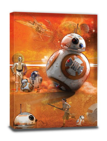 Star Wars: Episode VII (BB-8 Art), Leinwanddruck