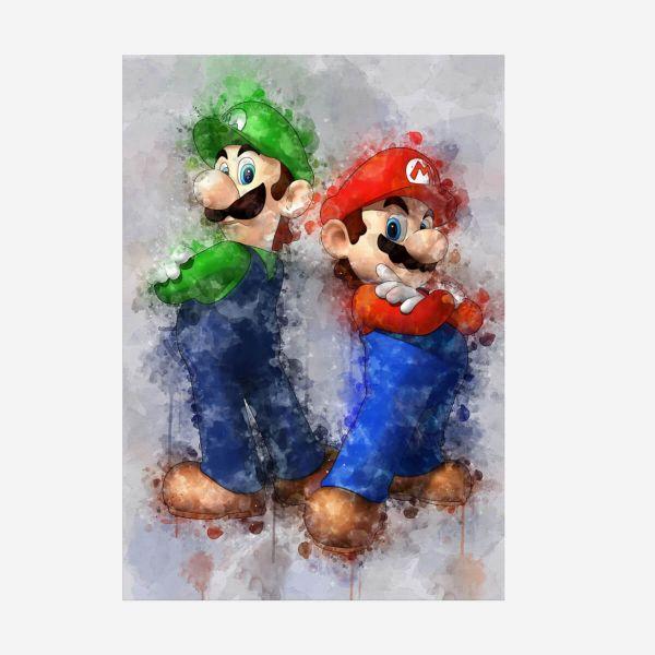 Mario und Luigi Metall Poster Nintendo