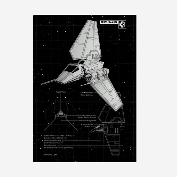 Shuttle Lambda T-4a Metall Poster Star Wars